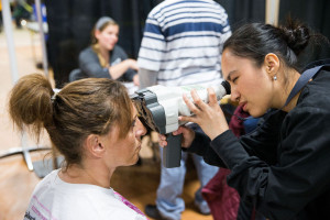 Marlyn Munoz volunteering for for Omaha's Project Homeless Connect